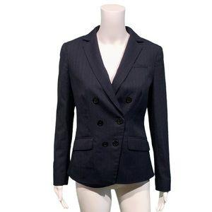 Tory Burch Double Breasted Wool Pinstripe Blazer